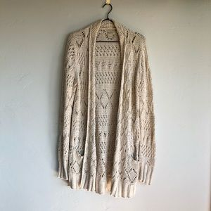 Lucky crochet open cardigan